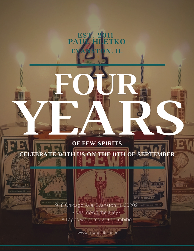 FEW FRIDAY – Celebrating 4 Years of FEW Spirits