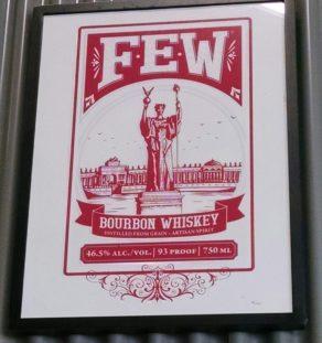 Bourbon poster when framed, frame not included.
