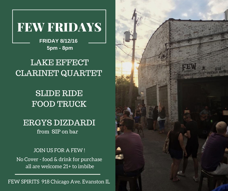 F.E.W Friday 8.12.16  – Clarinet Quartet & Slide Ride Food Truck