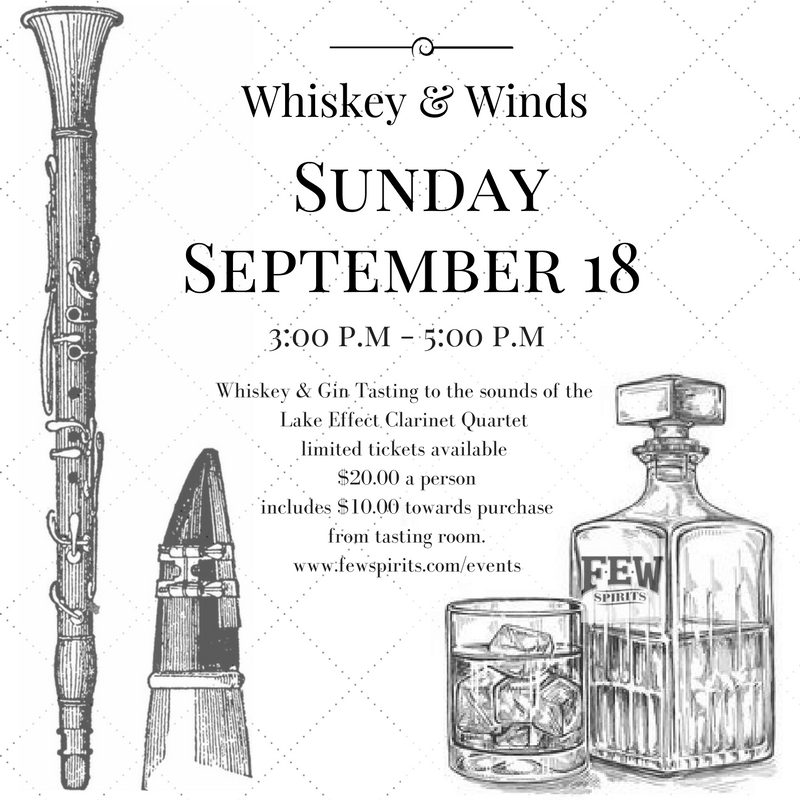 Whiskeys and Winds  – Tasting to the tunes of The Lake Effect Clarinet Quartet