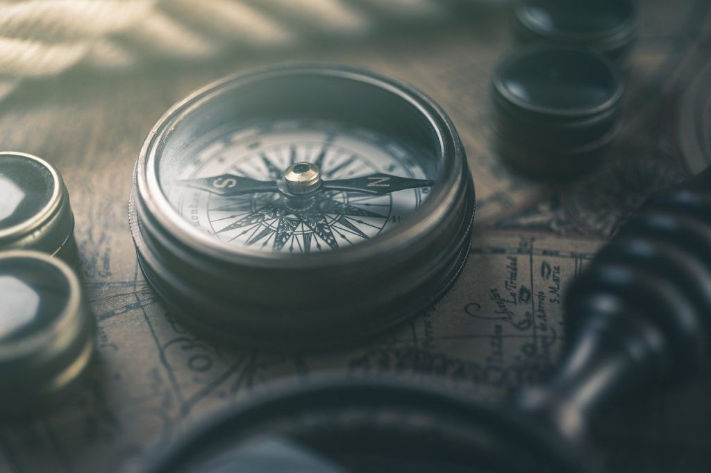 compass, map, retro